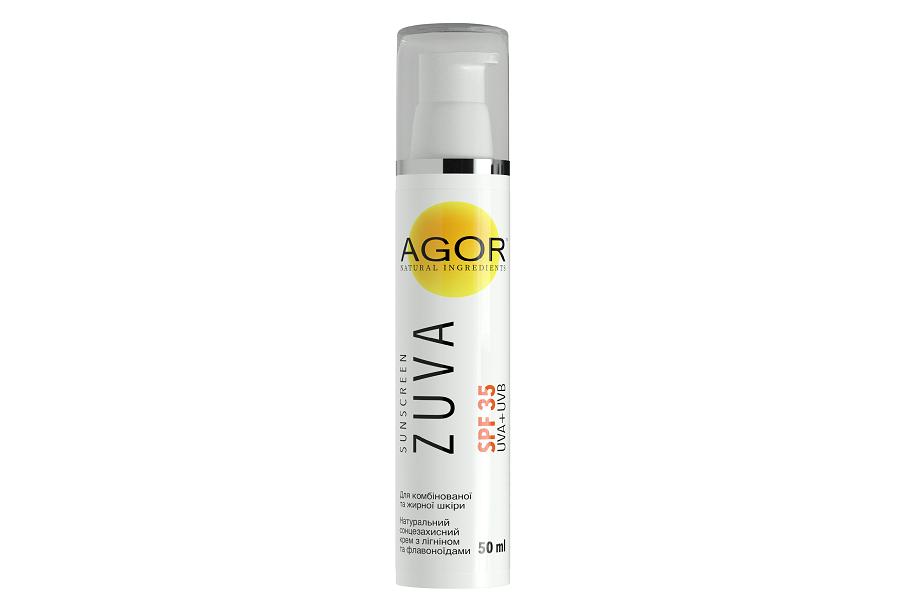 Био-крем ZUVA SPF35 для комби и жирной кожи